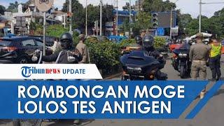 Fakta-fakta Viralnya Video Rombongan Moge Dikawal Polisi Lolos Pemeriksaan Surat Antigen di Bogor