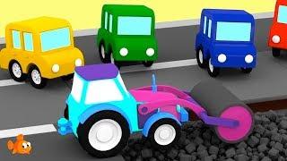 ROAD ROLLER! - Cartoon Cars Road Repairs - Cartoons for Children - Videos for Kids