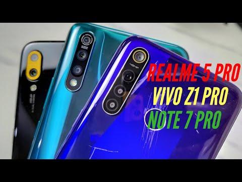 Realme 5 Pro vs Vivo Z1 Pro vs Redmi Note 7 Pro Comparison | Hindi