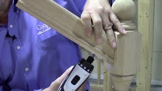 How To Connect Handrail at an Angle to a Newel Post Using the ZIPBOLT Angled Railbolt