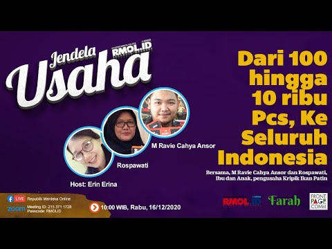 Jendela Usaha - Dari 100 hingga 10 ribu Pcs Ke Seluruh Indonesia