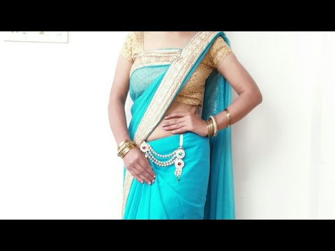 How to Drape Border Saree in Flat Front Style