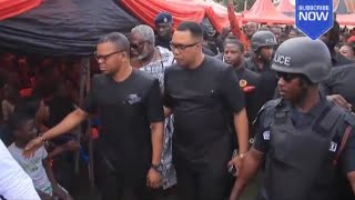 Eeii-ANGEL OBINIM'S BNI POLICE CONVOY ARRIVAL AT FUNERAL
