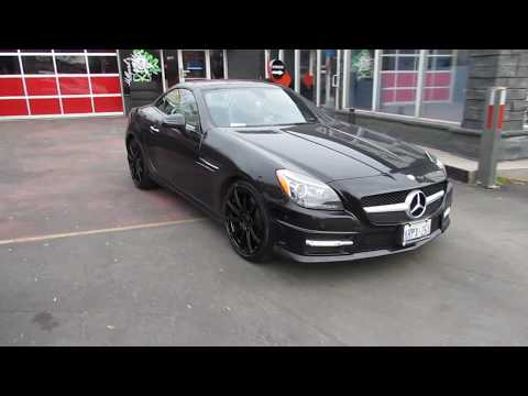 2017 MERCEDES BENZ SLK300 WITH 19 INCH CUSTOM RIMS