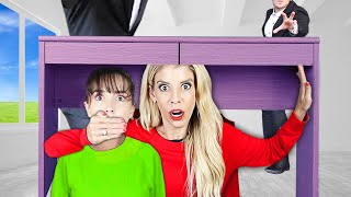The BEST Hiding SPOT! Hide and Seek Chase in ESCAPE ROOM to Rescue Best Friend   Rebecca Zamolo
