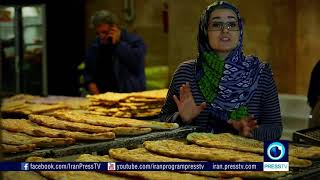 Naan (Brot) backen im Iran