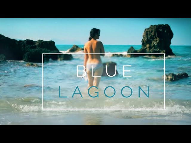 GIRL snorkeling in a blue lagoon - Crete