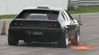 FAST Turbocharged Lancia Beta Montecarlo - Acccelerations, Backfires & Sound