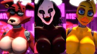 [SFM FNAF] Foxy, Puppet, Chica Jumplove Compilation