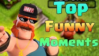 TOP COC Funny Moments, Glitches, Fails and Trolls Compilation | CLASh OF CLANS Funny Video - dooclip.me