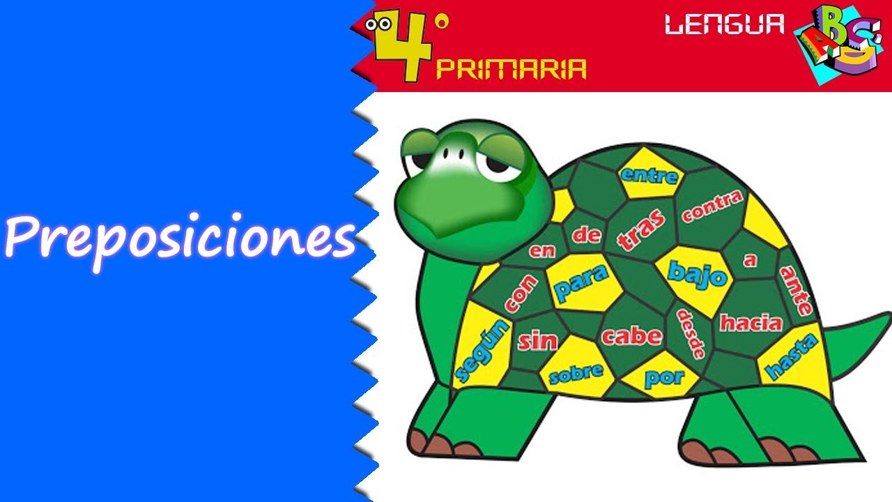 Lengua Castellana. 4º Primaria. Tema 11. Las preposiciones