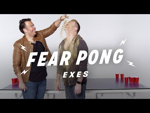 Exes Play Fear Pong (Travis & Jacob) | Fear Pong | Cut