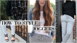 HOW TO STYLE: Joggers // 3 Outfit Ideas
