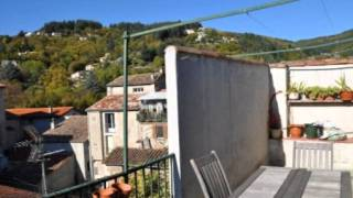 preview picture of video 'Le Vigan Appartement Terrasse Lumineux Charme Cheminée Mezz'