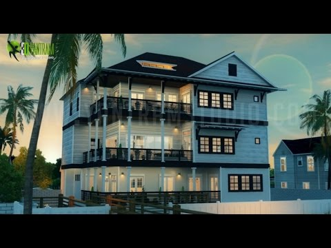 Architectural Walkthrough Illustration For Beach House