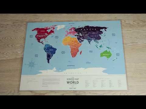 Nutrinamas kelionių žemėlapis Travel Map World Silver kaina ir informacija | Kitos originalios dovanos | pigu.lt