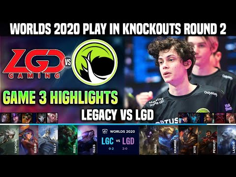 LGC vs LGD Game 3 瘟疫之源颯爽登場 輸了比賽 贏了世界 Highlights