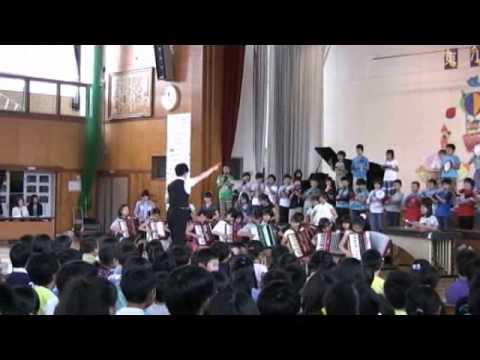 2014 6 20佐久東小学校5年生『エルクンバンチェロ』校内音楽会