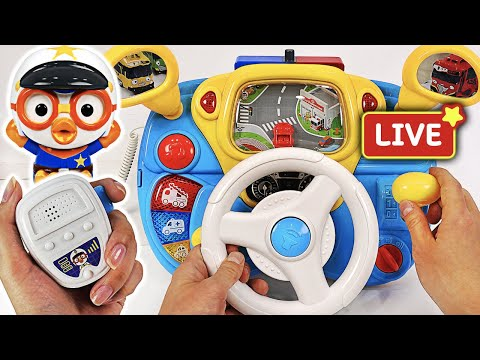Pororo Police Driving play. Go! Pororo! Drive a Police car and arrest the villain!   PinkyPopTOY