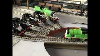 Nゲージトーマス 原作キャラでナップフォードのテーマ2 N Scale Busy Theme 2 With Main Land Engines