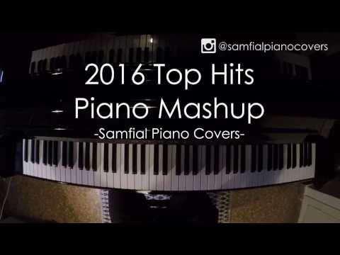 PIANO MASHUP TOP 2016 HITS  // 30 HITS IN 5 MINUTES