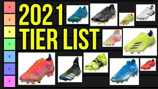 The Ultimate Football Boots Tier List 2021