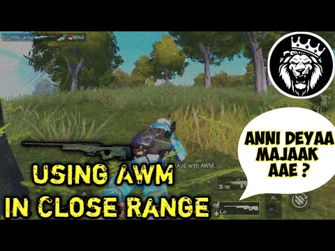 AWM in Close Range OP / Anonymous PubgMobile