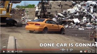 HOW TO SCRAP A CAR (DRIVE OVER THE SCALE) HONDA CIVIC