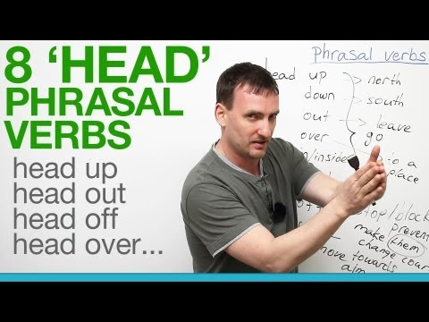 Phrasal verbs with HEAD