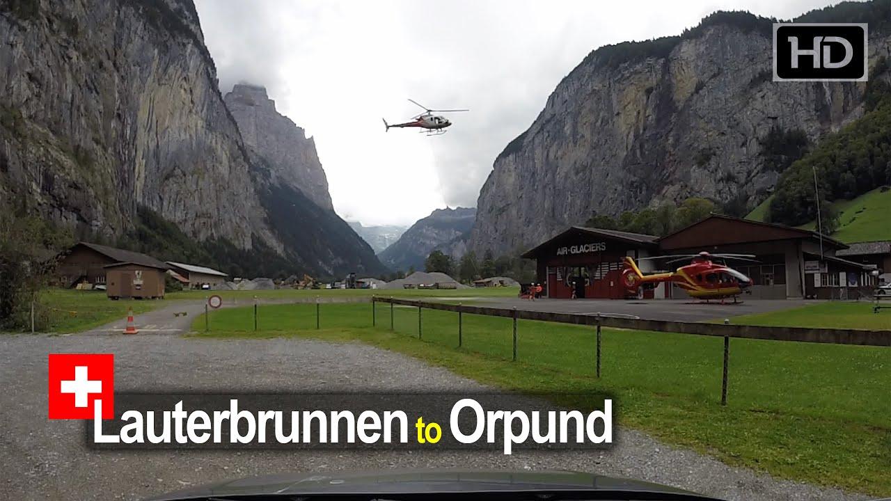 Driving from Lauterbrunnen to Orpund – Scenic Drive Switzerland!