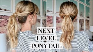 Perfect Messy Ponytail Tutorial | Easy Everyday Updo | LeighAnnSays