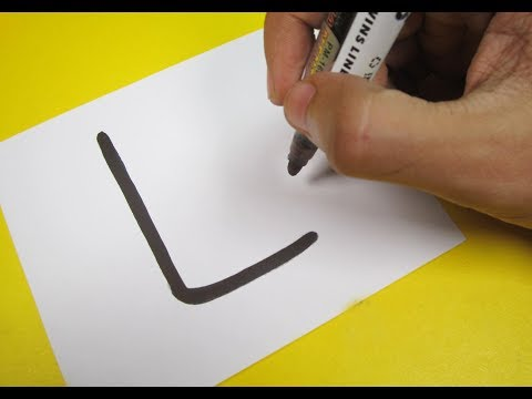 """How to turn Letter """"L"""" into a Cartoon POPSICLE! Fun with Alphabets Drawing for kids"""