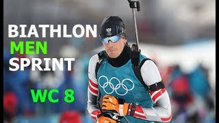 BIATHLON MEN SPRINT 15.03.2018 World Cup 8 Holmenkollen (Norway)