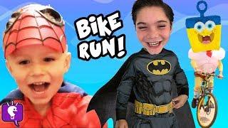 HobbyKids Ride Bikes to get SpongeBob Invincibubble by HobbyKidsTV