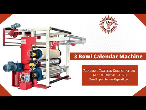 Three Bowl Textile Calendering Machine