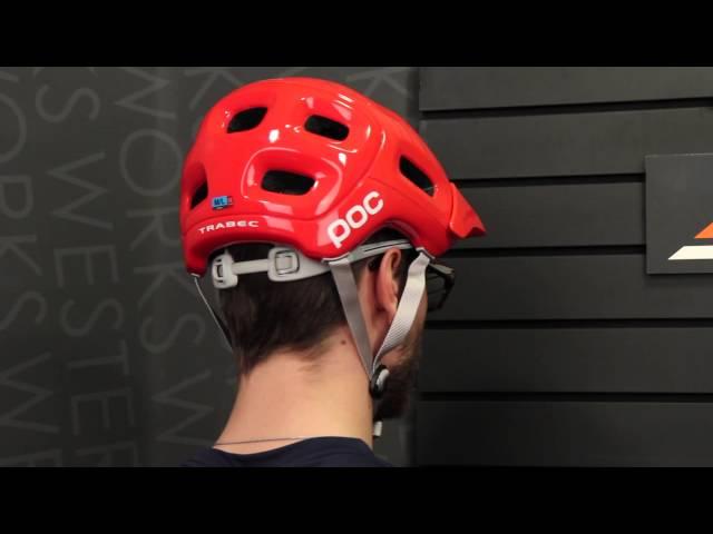 Видео Шлем POC Trabec бело-черный