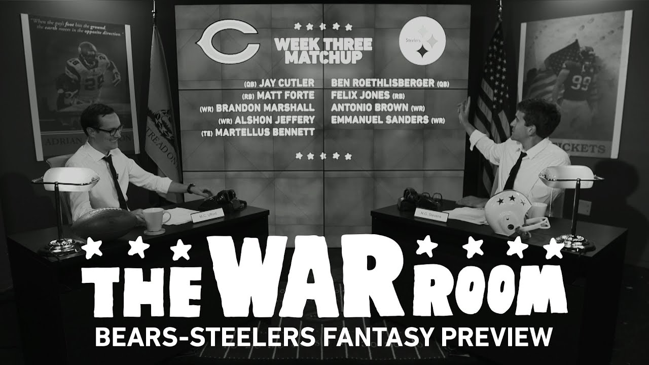 Bears vs. Steelers Sunday Night Football Fantasy Preview - The War Room thumbnail