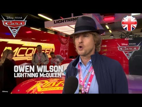 CARS 3 | Owen Wilson Visits Lewis Hamilton At The British Grand Prix 2017  | Official Disney UK