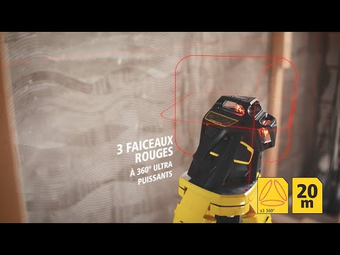 Laser multilignes X3R-360° rouge FATMAX