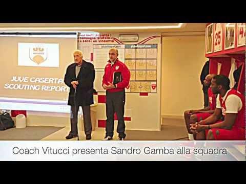 Coach Vitucci presenta Sandro Gamba alla Cimberio