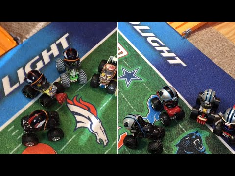 WHO DO YOU WANT TO WIN THE MONSTER TRUCK FOOTBALL SUPERBOWL 2016