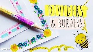 BORDER DESIGNS ON PAPER 💜 DIVIDERS & FLORAL BORDERS FOR SCHOOL PROJECTS 💛 How To DRAW A Cute BEE