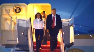 President Trump and the Melania Trump arrive in Washington DC after Helsinki Finland trip. July 16,