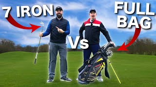 GOLF PRO (1 club) Vs BAD GOLFER (14 clubs)