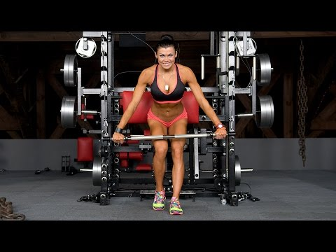 Cable Bar Standing Chest Press