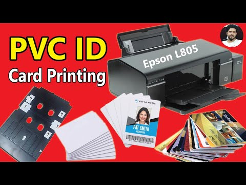 pvc card printing software install for epson l805 - смотреть