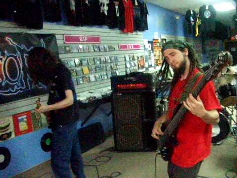 Panic And War - A Dead Angel + Flesh Consumed (ft. Lord Meatpie) [Live @ CD Heaven, May 24th 2010]