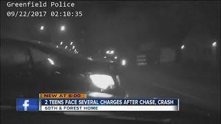 VIDEO: Driver slams getaway car into Greenfield police car