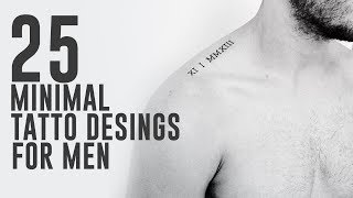 25 Awesome Minimal Tattoo Designs For Men
