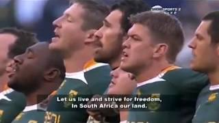 THE TEXT OF THE NATIONAL ANTHEMS OF AUSTRALIA AND SOUTH AFRICA